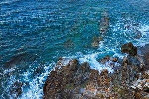 Sharp islets. Asturias, Spain.