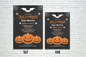 Halloween Party Flyer Template-V400