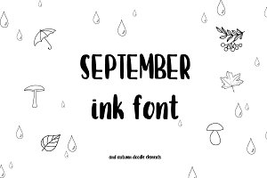 September font and doodles.