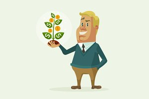 Businessman old money tree