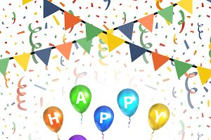 Happy birthday greetings background