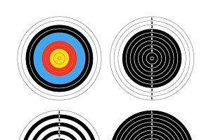 Four targets for shooting practice