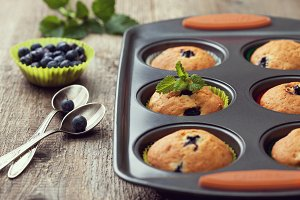 Muffins with blueberries