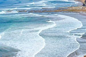 Atlantic ocean summer coast, Spain