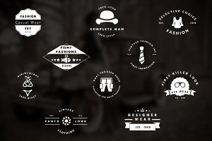 30 Vintage Fashion Logo / Badges Set