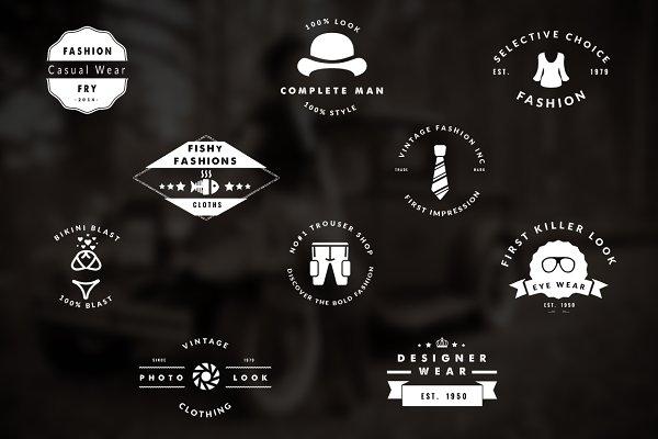 30 Vintage Fashion Logo / Badges Se…