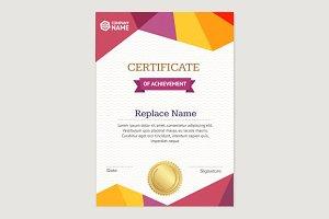 Certificate Vertical Template.