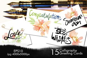 Calligraphy Greeting Cards