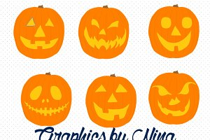 Jack O'lantern Clipart/Illustrations