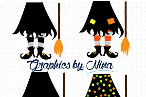 Witch Feet Clipart/Illustration
