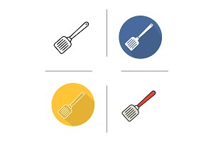 Spatula. 4 icons. Vector
