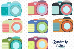 Cute Colorful Cameras clipart
