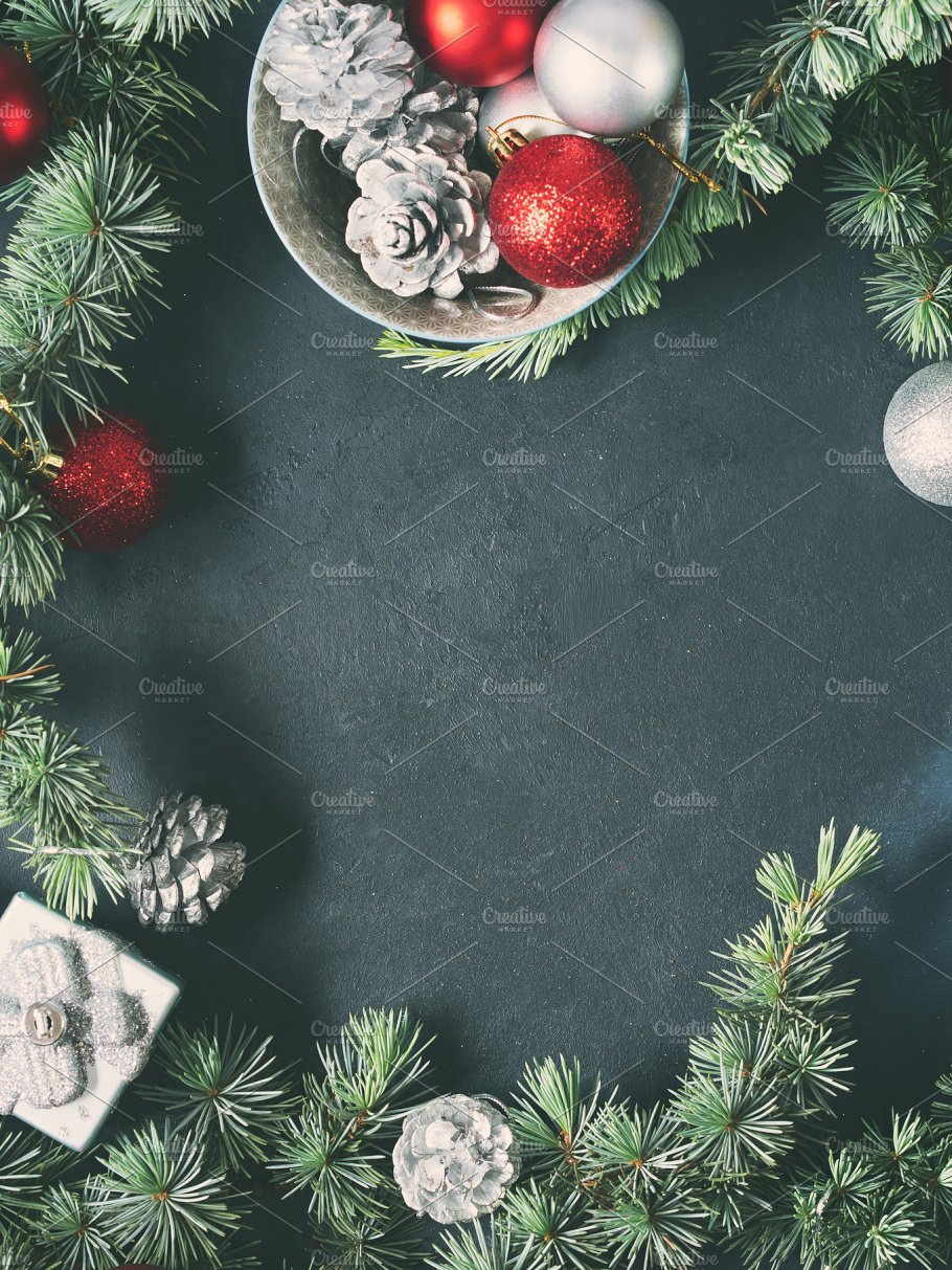 Vertical Christmas Background Copy Space