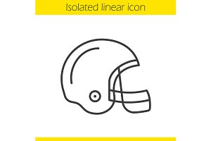 American football helmet. Vector
