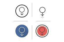 Male gender. 4 icons. Vector