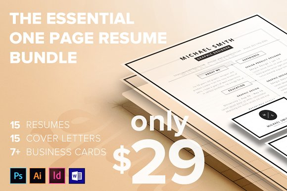 The Essential 1 Page Resume Bundle