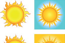 Different Sun Designs. Collection