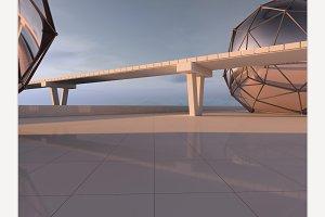 Futuristic Urban Landscape
