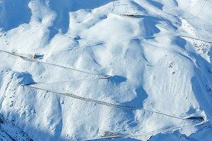Winter Alps mountain