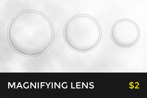 Free Magnifying Glass Loupe (PSD)