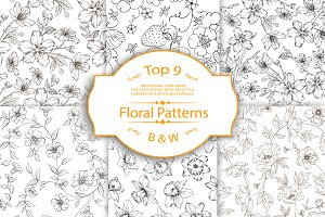 Best Black&White Floral Patterns