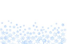 Frozen pattern with snowflakes