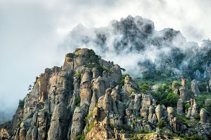 Demerdji mountain in Crimea
