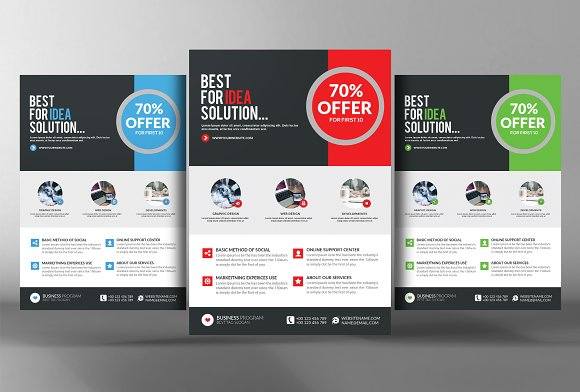 Business Marketing Flyer Template Flyer Templates on Creative Market – Marketing Flyer