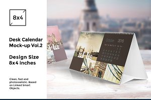 Desk Calendar Mock-Up vol.2