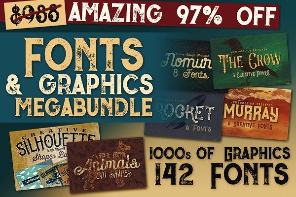 Fonts & Graphics MegaBundle