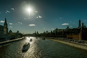 Moskva River and Moscow Kremlin