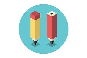 Stylized isometric pencils