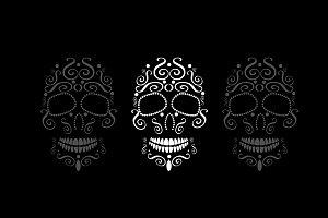 Skull vector ornament white color