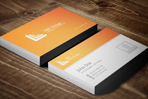FH Design Orange Business Card