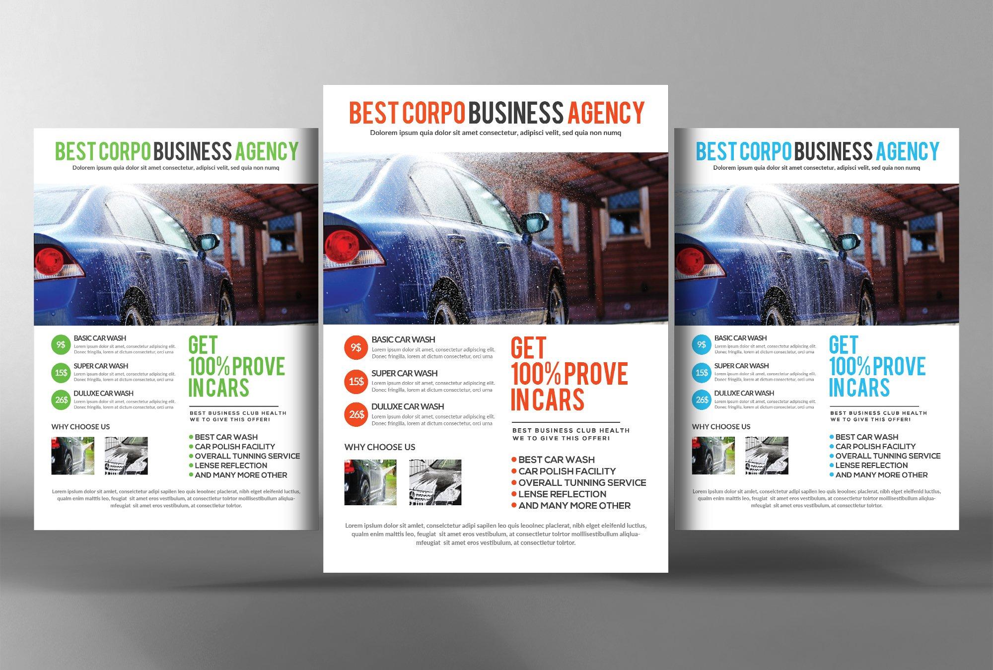 Car Wash Flyer Flyer Templates Creative Market – Auto Detailing Flyer Template