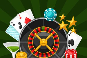 Casino gambling backgrounds.