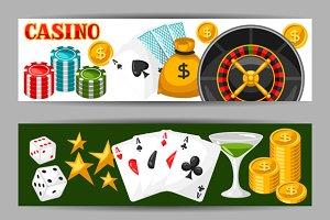 Casino gambling banners.