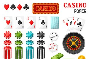 Casino gambling game objects.