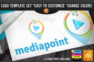 Music Video 3D Play Media Point Logo