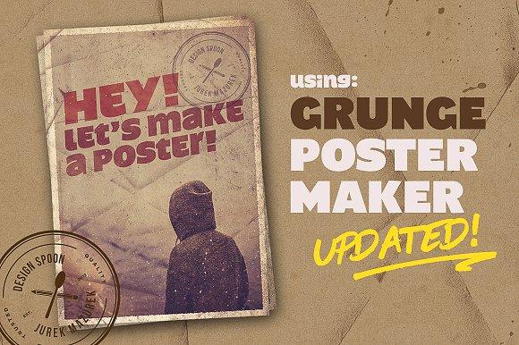 updated grunge poster maker layer styles creative market