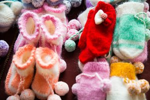 Winter children's clothing