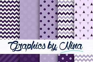 Violet and Purple digital papers