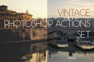 Vintage Photoshop Actions Set