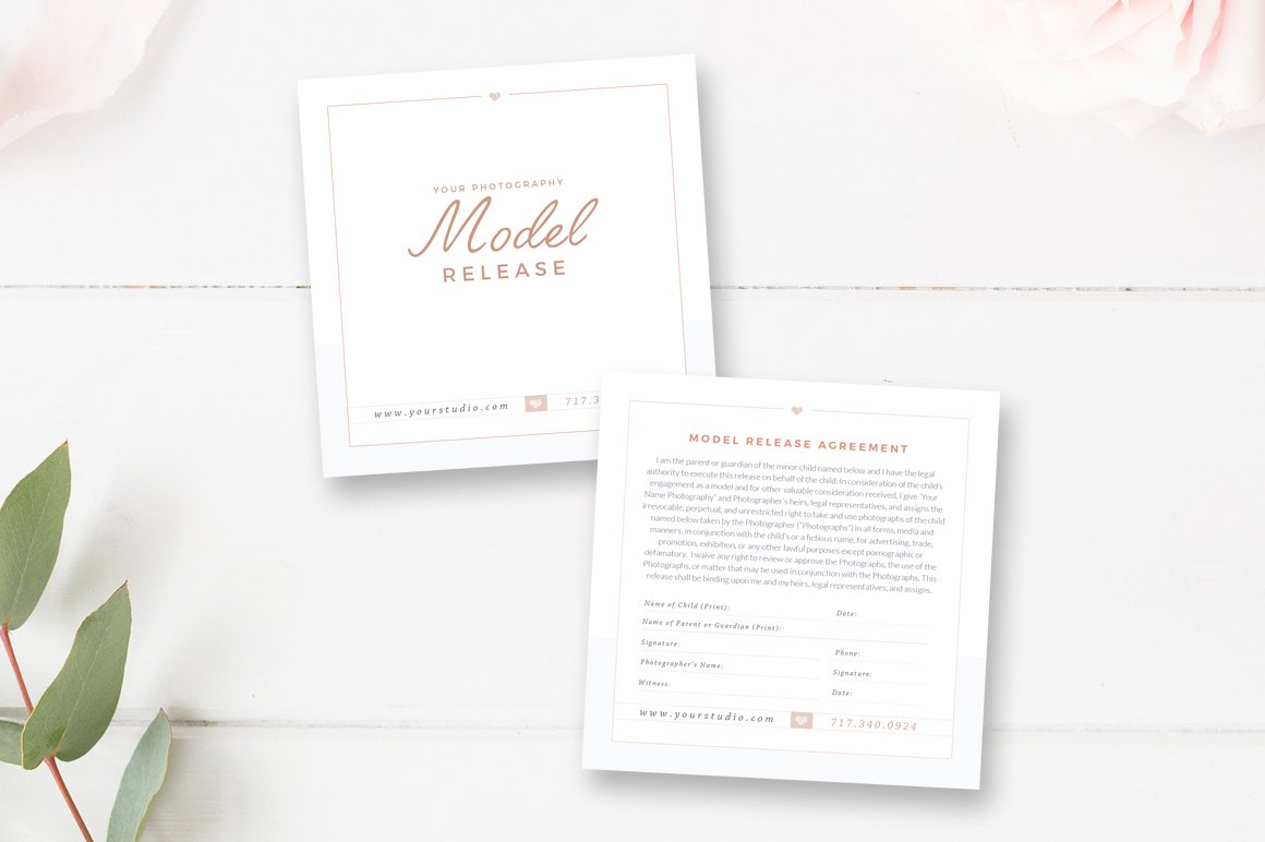 Photographer Model Release Form ~ Flyer Templates ~ Creative Market