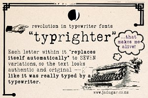 """typrighter""-Amazing Typewriter Font"