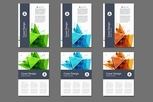 Abstract Triangle Line Brochure
