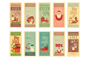 Christmas Sale Tags Set