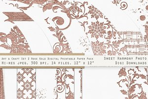 Rose Gold 2 Fancy & Ornamental Paper