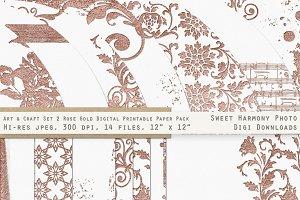 Rose Gold 2 Fancy & Ornamental Paper