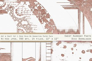 Rose Gold  Fancy & Ornamental Paper